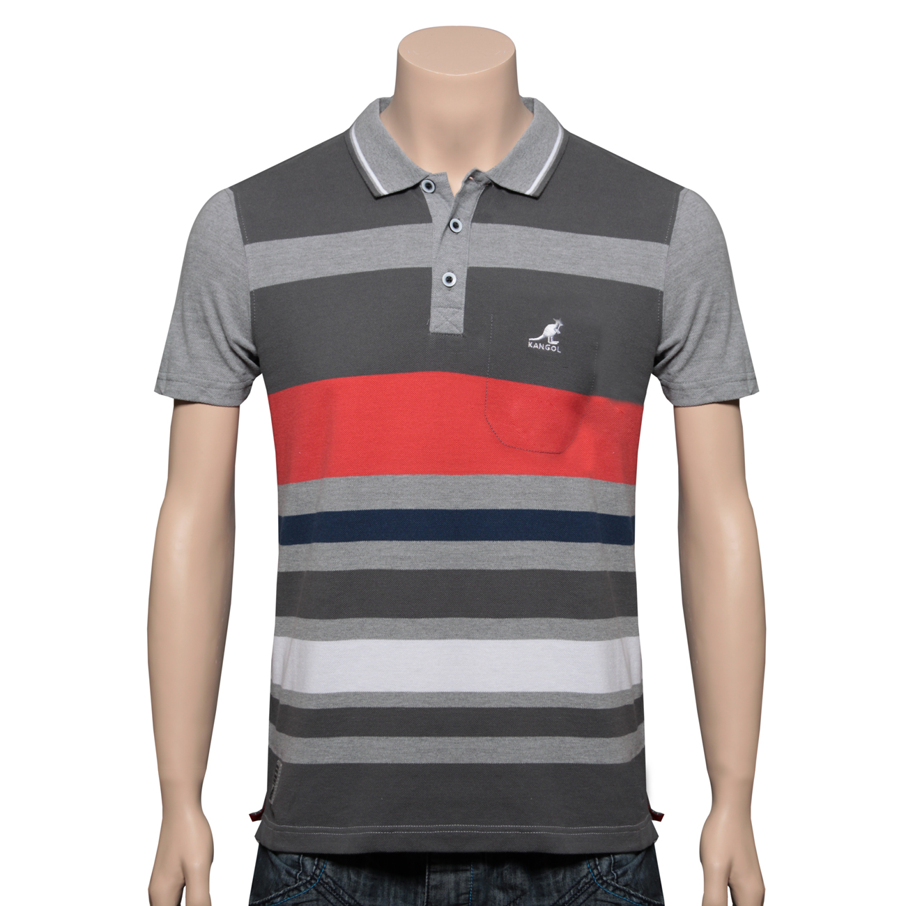 branded designer kangol t shirt mens casual polo tshirts
